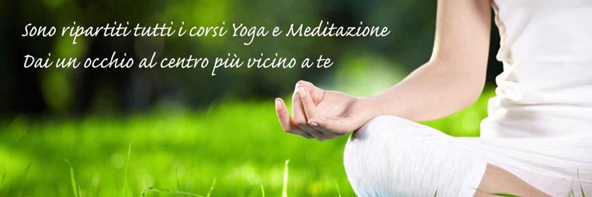 Corsi yoga e meditazione, trova il centro più vicino.
